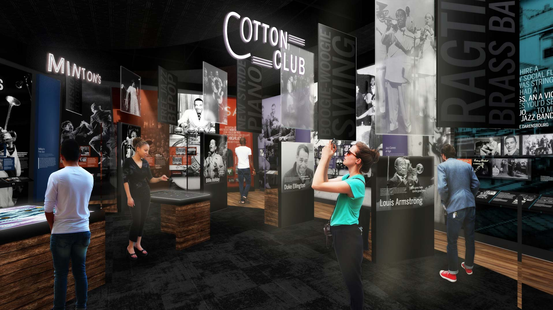 Gallery at the National Museum of African American Music